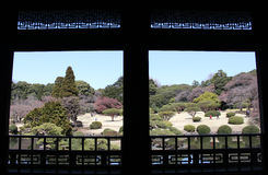 View from Taiwan Pavilion in Shinjuku Gyoen National Garden - Tokyo Royalty Free Stock Photo