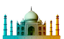 View of Taj Mahal. Agra, India with white background vector illustration