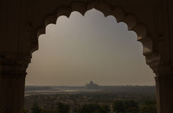 View of Taj Mahal from Agra Fort Royalty Free Stock Photo