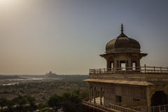View of Taj Mahal from Agra Fort India Royalty Free Stock Photography