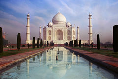 A view of Taj Mahal on the blue sky background royalty free stock photos