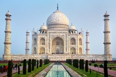 View of Taj Mahal in early morning, Agra, Uttar Pradesh, India royalty free stock images