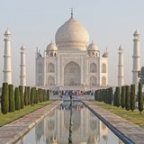 View on Taj Mahal from garden Royalty Free Stock Photography