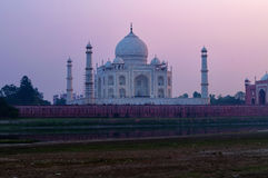 View of Taj Mahal from Mehtab Bagh at sunset Royalty Free Stock Images