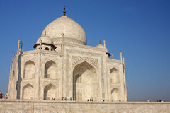 View of Taj Mahal at sunrise Stock Photo