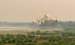 View of Taj Mahal and Yamuna river from Agra Fort Royalty Free Stock Images