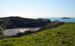 View. Taken in Pembrokeshire, April 2014. Solva Stock Images
