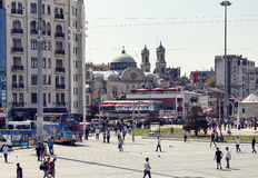 View of Taksim square in Istanbul royalty free stock photos
