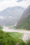 View of Tal, Annapurna Trail, Nepal Stock Photography