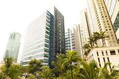 View with the tall buildings in Makati Royalty Free Stock Photography