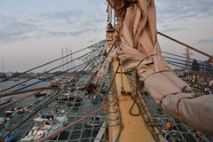 View from tall ship Mir on Sail 2015 Royalty Free Stock Photo