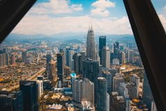 A view from the tallest building in Kuala Lumpur royalty free stock image