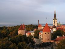 View of Tallinn. View over Old Town of Tallinn royalty free stock images