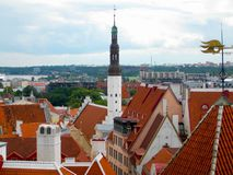 View of Tallinn from the observation deck stock photo