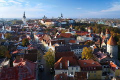 View of the Tallinn Old Town Stock Photo