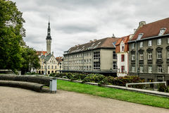 View of Tallinn town Hall and areas in its vicinity. Tallinn. Stock Photos