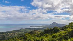 View on Tamarin Mauritius from Plaine Champagne.  Royalty Free Stock Photography