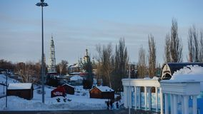 View of Tambov on a sunny winter day. View of Tambov Russia in a sunny winter day. Text translation: Tambov stock photo