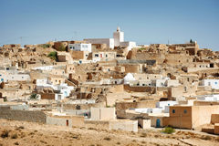 View at Tamezret. Village Tamezret in Tunisia.Tamezret is a Tunisian Berber village located southeast of the country, about ten kilometers from Matmata and forty Royalty Free Stock Photography