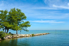 A View of Tampa Bay. View across Tampa Bay from Anna Maria Island, Florida Stock Images