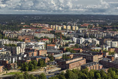 View of the Tampere altitude observation platform Royalty Free Stock Photo