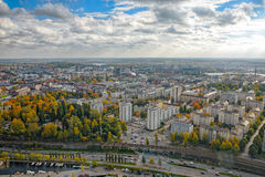 View of the Tampere from the observation deck Royalty Free Stock Image