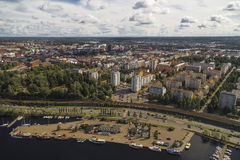 View of the Tampere from the observation deck. On the TV tower. Finland Stock Photos