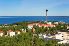 View of Tampere from Pyynikki tower Stock Images