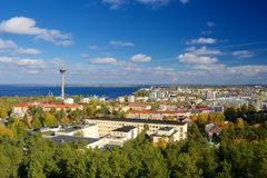 View of Tampere from Pyynikki tower Royalty Free Stock Photo