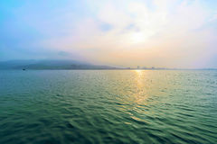 View of Tamsui seascape in Taiwan Royalty Free Stock Images