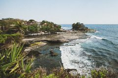 View of the Tanah Lot Temple Bali stock photo