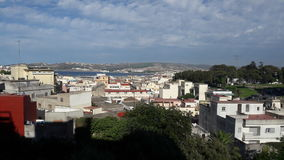 View of tangier. Tangier city beach from my house Royalty Free Stock Images