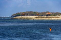 View of Tanjung Benoa beach in Bali, Indonesia stock images