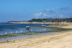 View of Tanjung Benoa beach in Bali, Indonesia royalty free stock images