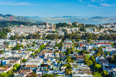 View from Tank Hill Park, in San Francisco  Royalty Free Stock Photography