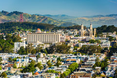 View from Tank Hill Park, in San Francisco  Royalty Free Stock Images