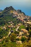 View of Taormina from Castelmola Royalty Free Stock Photos
