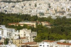 View Tapeon in Athens cityscape ,Greece. Building Royalty Free Stock Image