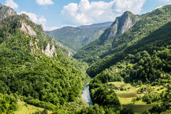 View of the Tara River Canyon in Montenegro Royalty Free Stock Images