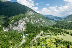 View of the Tara River Canyon in Montenegro Stock Image