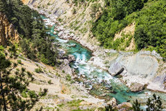 View of the Tara River Canyon in Montenegro Royalty Free Stock Image
