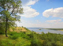 View from Tarasova Mountain in Kanev on Dnieper Royalty Free Stock Images