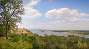 View from Tarasova Mountain in Kanev on Dnieper Royalty Free Stock Photography