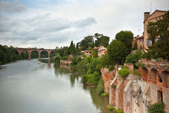 View of the Tarn river in Albi, France Stock Images