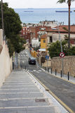 View of Tarragona, Catalonia. Spain. View of the narrow street in Tarragona, Catalonia. Spain Stock Photo