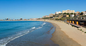 View of  Tarragona and Mediterranean beach Royalty Free Stock Photo