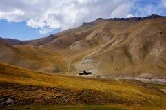 A view of Tash Rabat Caravanserai, Kyrgyzstan stock images