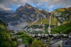 View of Tatra mountain. Koscielec peak Poland Royalty Free Stock Image