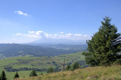 View of Tatra mountains. (Poland) on AUGUST 2012 Royalty Free Stock Photography