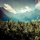 View of Tatra Mountains from hiking trail. Poland. Europe. Royalty Free Stock Photos